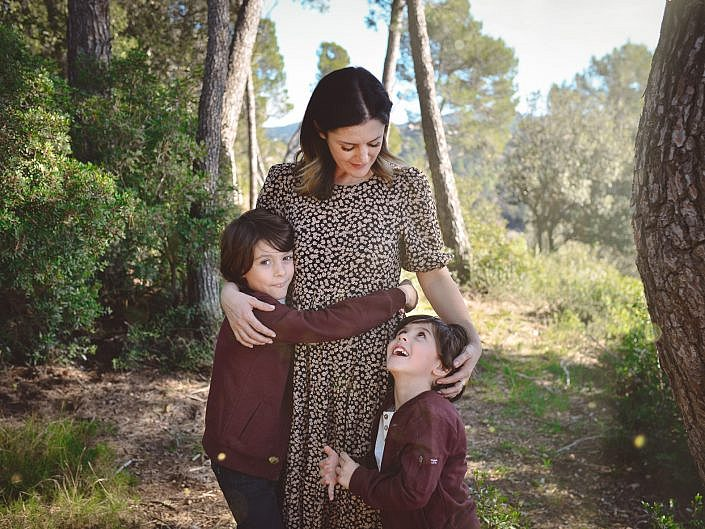 fotografia familia barcelona bosque exteriores palabra de madre