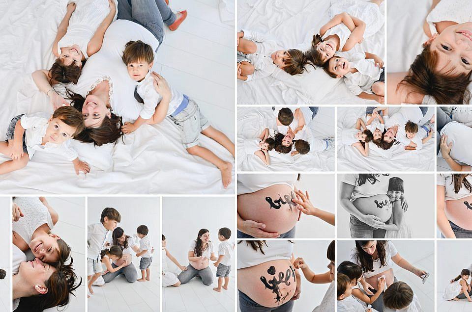 FOTOGRAFIA DE EMBARAZO: SESIONES ESTUDIO + BOSQUE (1h)