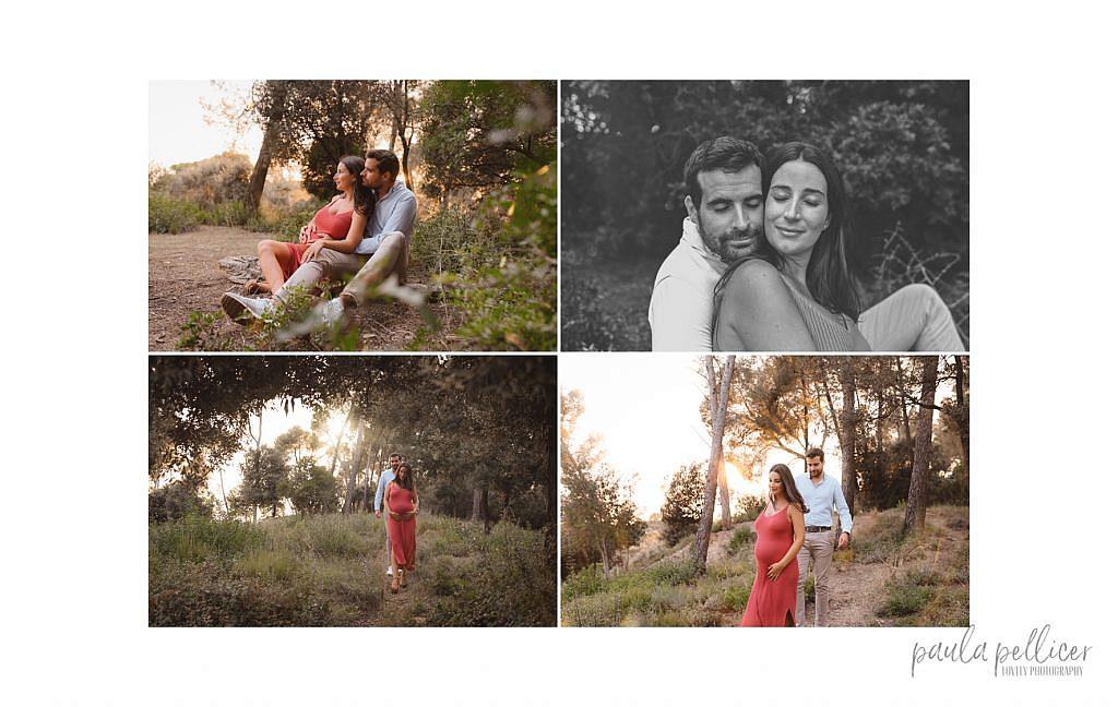 fotografia embarazo estudio y bosque en barcelona paula pellicer