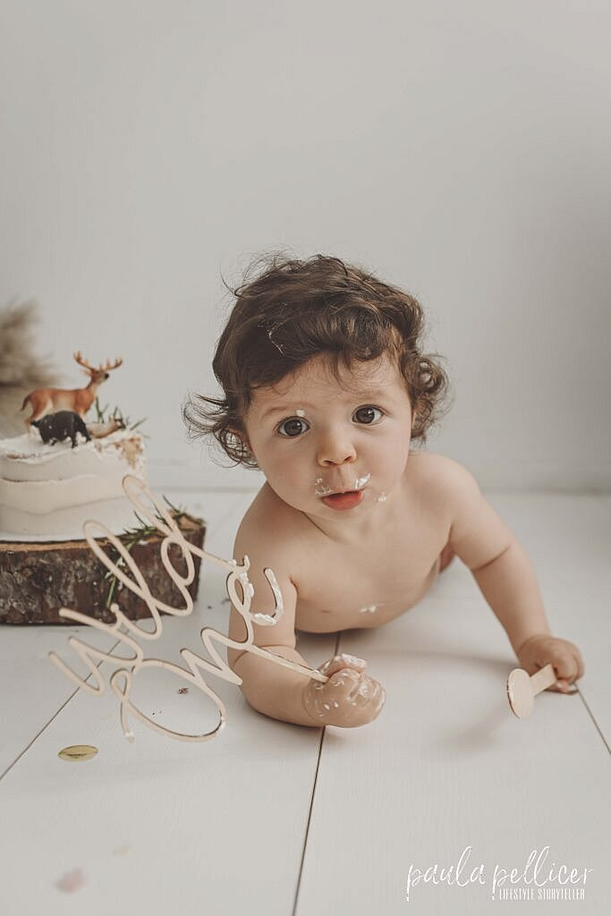 FOTOGRAFÍA NATURAL DE BEBÉS - SMASH THE CAKE - UN AÑO