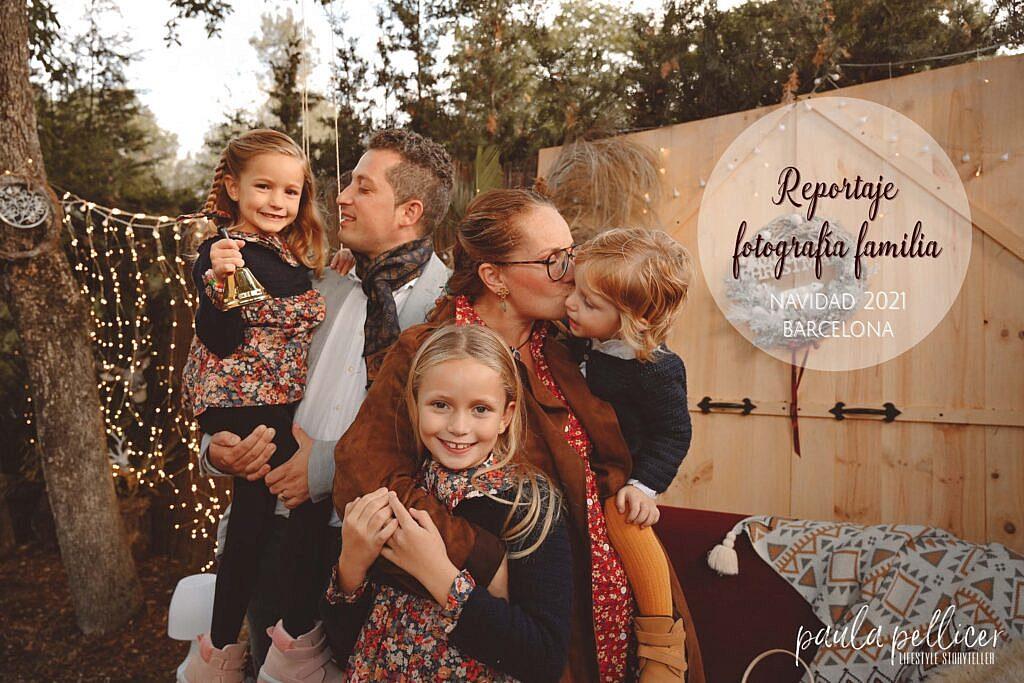 Fotografía Navidad niños y familias en barcelona 2021
